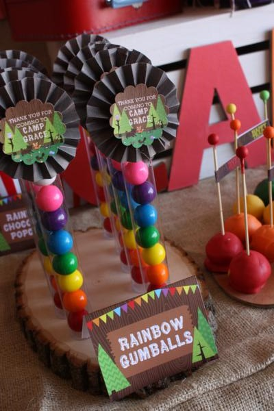 Camp Arts and Crafts Rainbow Party via Kara's Party Ideas | KarasPartyIdeas.com #camp #arts #crafts #rainbow #party #ideas (68)