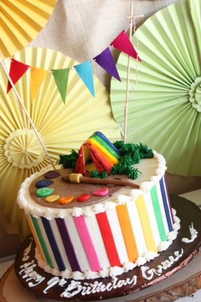 Kara S Party Ideas Camp Arts Amp Crafts Rainbow Party Kara