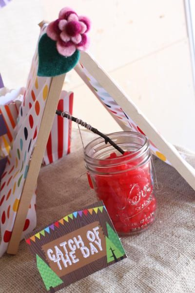 Camp Arts and Crafts Rainbow Party via Kara's Party Ideas | KarasPartyIdeas.com #camp #arts #crafts #rainbow #party #ideas (60)