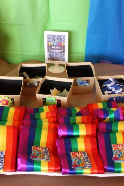 Camp Arts and Crafts Rainbow Party via Kara's Party Ideas | KarasPartyIdeas.com #camp #arts #crafts #rainbow #party #ideas (54)