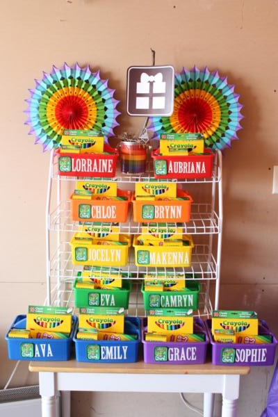 Camp Arts and Crafts Rainbow Party via Kara's Party Ideas | KarasPartyIdeas.com #camp #arts #crafts #rainbow #party #ideas (42)