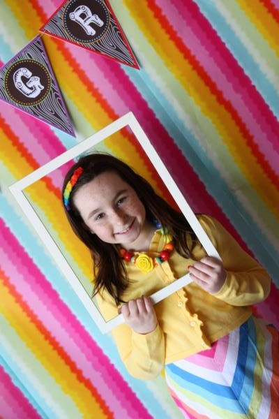 Camp Arts and Crafts Rainbow Party via Kara's Party Ideas | KarasPartyIdeas.com #camp #arts #crafts #rainbow #party #ideas (34)