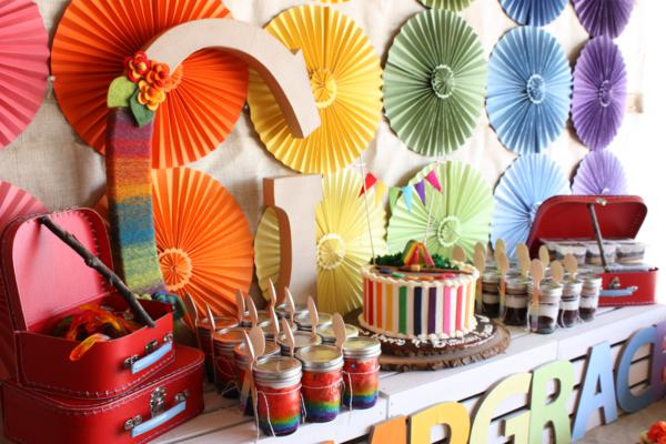 Camp Arts and Crafts Rainbow Party via Kara's Party Ideas | KarasPartyIdeas.com #camp #arts #crafts #rainbow #party #ideas (28)