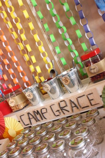 Camp Arts and Crafts Rainbow Party via Kara's Party Ideas | KarasPartyIdeas.com #camp #arts #crafts #rainbow #party #ideas (11)