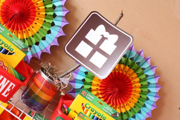 Camp Arts and Crafts Rainbow Party via Kara's Party Ideas | KarasPartyIdeas.com #camp #arts #crafts #rainbow #party #ideas (9)