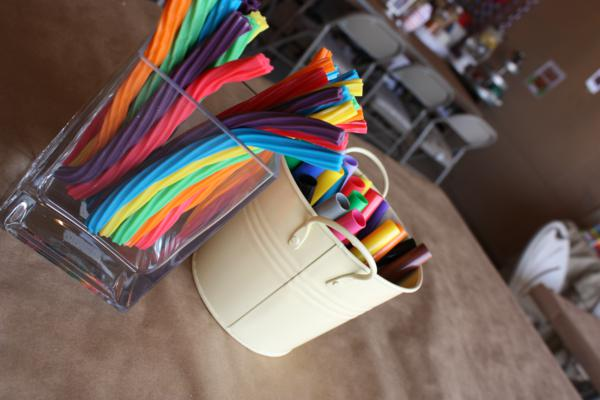 Camp Arts and Crafts Rainbow Party via Kara's Party Ideas | KarasPartyIdeas.com #camp #arts #crafts #rainbow #party #ideas (7)