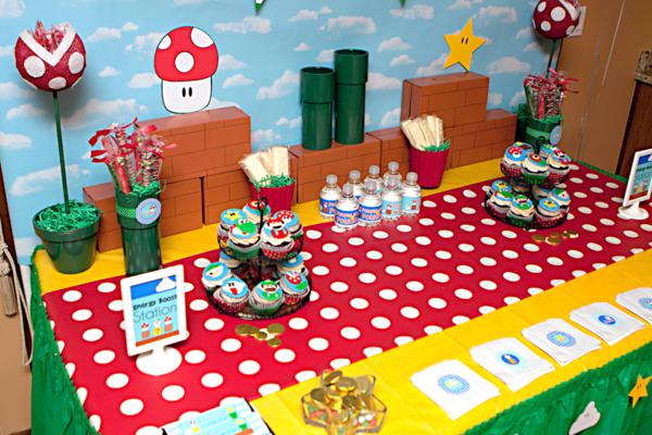 Mario Gamer Party via Kara's Party Ideas | KarasPartyIdeas.com #mario #boy #video #game #gamer #party #ideas (67)