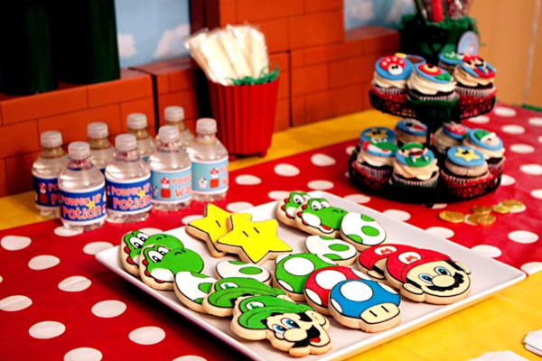 Mario Gamer Party via Kara's Party Ideas | KarasPartyIdeas.com #mario #boy #video #game #gamer #party #ideas (54)