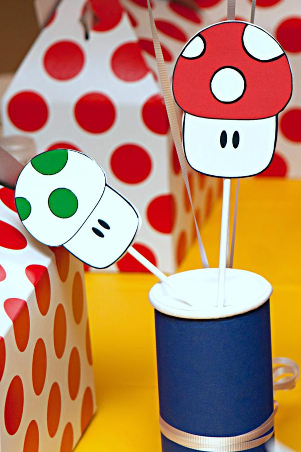 Mario Gamer partido através de Idéias do partido de Kara | KarasPartyIdeas.com # mario # menino # video game # # gamer # party # idéias (51)