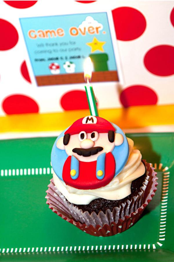 Mario Gamer partido através de Idéias do partido de Kara | KarasPartyIdeas.com # mario # menino # video game # # gamer # party # idéias (25)