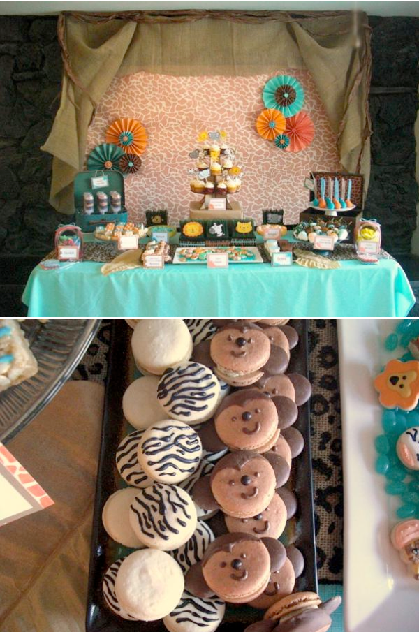 Karas Party Ideas Jungle safari themed birthday party planning