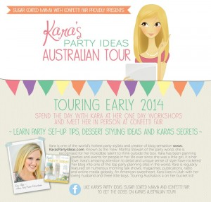 Kara's Party Ideas Australian Tour