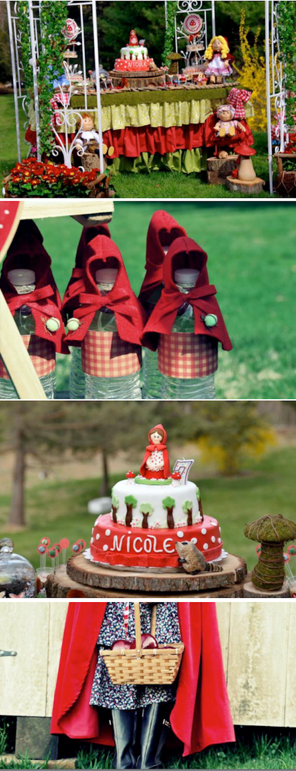 Little Red Riding Hood themed birthday party via Kara's Party Ideas KarasPartyIdeas.com #little #red #riding #hood #birthday #party #ideas #favors #supplies