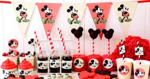 free mickey mouse party printables banner cupcake toppers tags decorations favors and more via Kara's Party Ideas