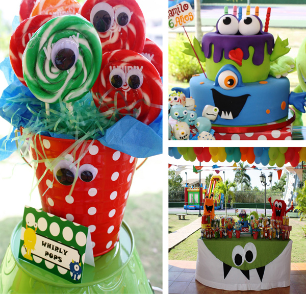 Monster Themed Birthday Party Via Karas Ideas