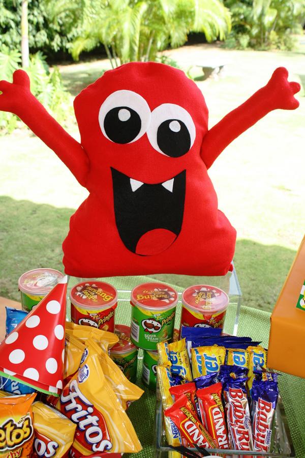 Monster Themed Birthday Party via Kara's Party Ideas | Kara'sPartyIdeas.com #monster #birthday #party (11)