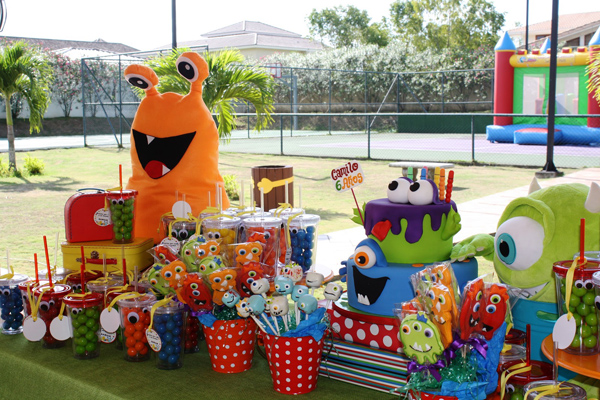 Monster Themed Birthday Party via Kara's Party Ideas | Kara'sPartyIdeas.com #monster #birthday #party (23)