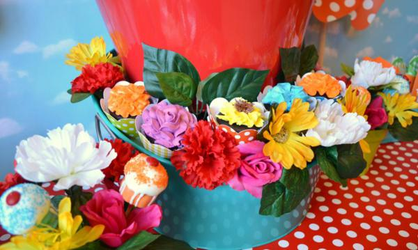 Cupcake in Bloom Spring Dessert Party via Kara's Party Ideas | KarasPartyIdeas.com #cupcake #bloom #spring #dessert #table #party #ideas (5)