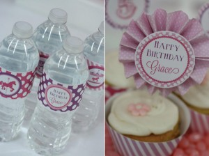 Pink and Purple Carousel Birthday Party via Kara's Party Ideas | Kara'sPartyIdeas.com #pink #purple #carousel #birthday #party (5)