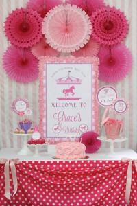 Pink and Purple Carousel Birthday Party via Kara's Party Ideas | Kara'sPartyIdeas.com #pink #purple #carousel #birthday #party (13)