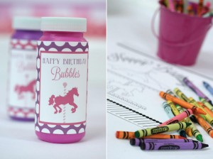 Pink and Purple Carousel Birthday Party via Kara's Party Ideas | Kara'sPartyIdeas.com #pink #purple #carousel #birthday #party (10)