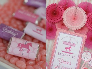 Pink and Purple Carousel Birthday Party via Kara's Party Ideas | Kara'sPartyIdeas.com #pink #purple #carousel #birthday #party (9)
