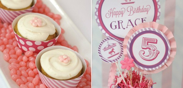 Pink and Purple Carousel Birthday Party via Kara's Party Ideas | Kara'sPartyIdeas.com #pink #purple #carousel #birthday #party (8)