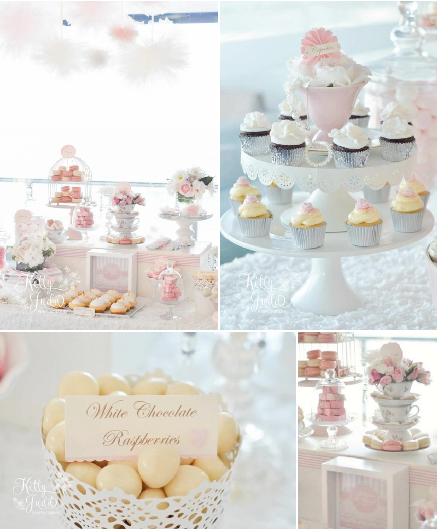 Kara\'s Party Ideas Pretty Pink Vintage Wedding Girl Party Shower ...