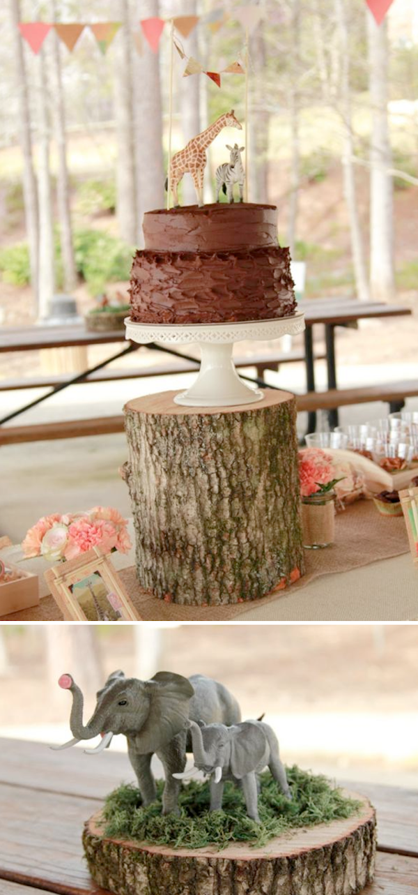 Girly Safari themed 5th birthday party with tons of cute jungle decorating ideas! Via Kara's Party Ideas KarasPartyIdeas.com #jungle #safari #girly #party #birthday #supplies #idea #cake #zoo
