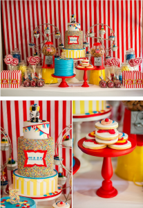 Big Top Circus Carnival themed birthday party FULL OF IDEAS! Via Kara's Party Ideas KarasPartyIdeas.com #circus #carnival #fair #birthday #party #supplies #ideas #decor #idea (16)