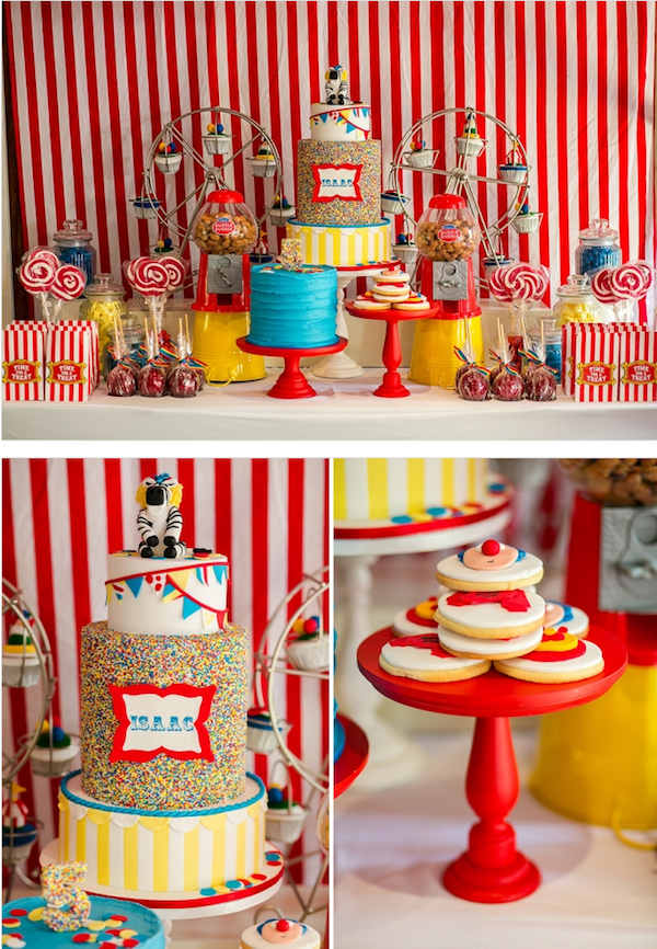 Karas Party Ideas Circus Carnival Boy Girl 5th Birthday Party