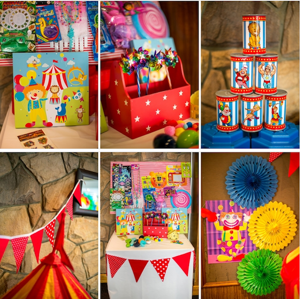 Big Top Circus Carnival themed birthday party FULL OF IDEAS! Via Kara's Party Ideas KarasPartyIdeas.com #circus #carnival #fair #birthday #party #supplies #ideas #decor #idea (12)