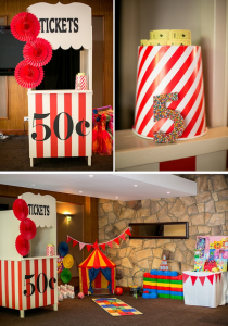 Big Top Circus Carnival themed birthday party FULL OF IDEAS! Via Kara's Party Ideas KarasPartyIdeas.com #circus #carnival #fair #birthday #party #supplies #ideas #decor #idea (11)