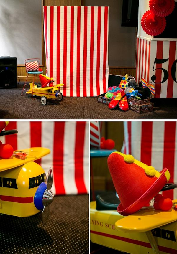 Big Top Circus Carnival themed birthday party FULL OF IDEAS! Via Kara's Party Ideas KarasPartyIdeas.com #circus #carnival #fair #birthday #party #supplies #ideas #decor #idea (10)