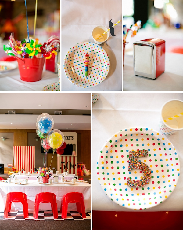 Kara 39 s party ideas circus carnival 5th birthday party for 5th birthday decoration ideas