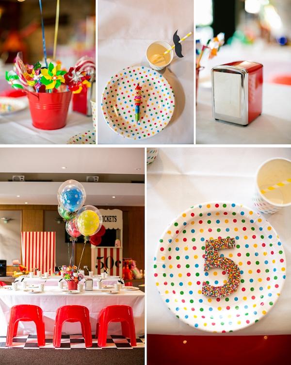 Big Top Circus Carnival themed birthday party FULL OF IDEAS! Via Kara's Party Ideas KarasPartyIdeas.com #circus #carnival #fair #birthday #party #supplies #ideas #decor #idea (8)