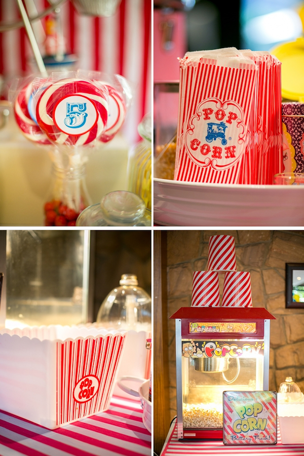 Big Top Circus Carnival themed birthday party FULL OF IDEAS! Via Kara's Party Ideas KarasPartyIdeas.com #circus #carnival #fair #birthday #party #supplies #ideas #decor #idea (2)