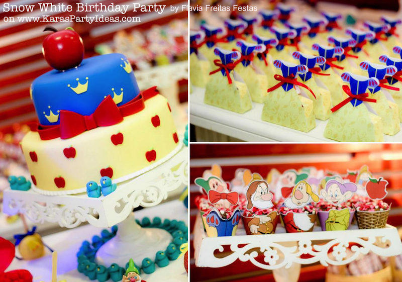 Karas Party Ideas Snow white party supplies idea planning birthday