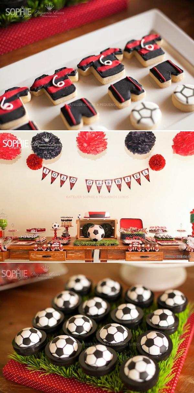 Karas Party Ideas Soccer themed boy birthday party planning idea