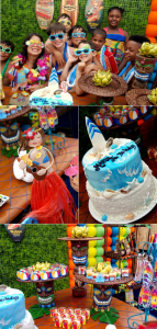 Surf Luau themed birthday party via Kara's Party Ideas KarasPartyIdeas.com #surf #luau #themed #birthday #party #idea #supplies #cake #idea