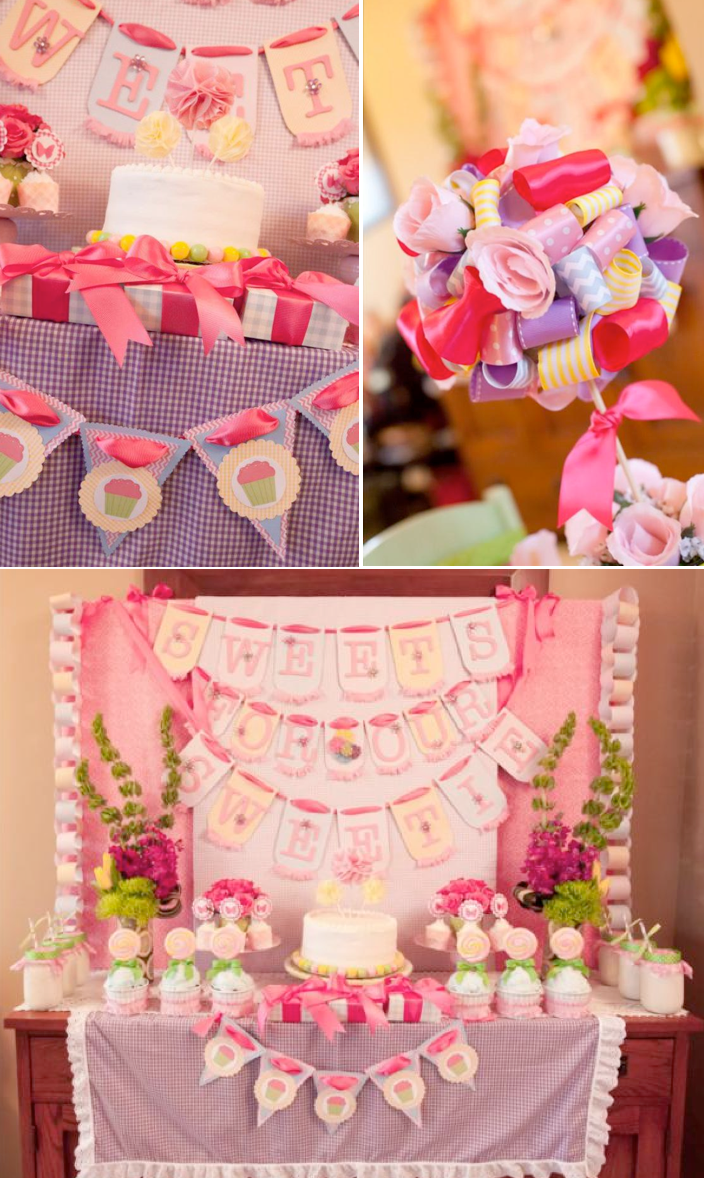 Sweet girly pink gingham themed birthday party full of cute ideas! Via Kara's Party Ideas KarasPartyIdeas.com #gingham #pink #birthday #party #girly #idea #flower #ideas