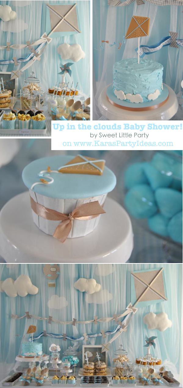 Up In The Clouds Kite Themed Birthday Party Baby Shower Via Karau0027s Party  Ideas | KarasPartyIdeas
