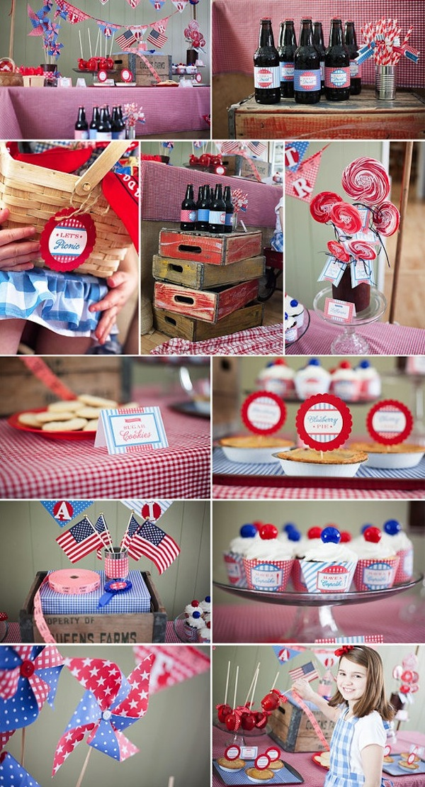 Vintage 4th Of July Or Memorial Day Picnic Party FULL Ideas PRINTABLES Too