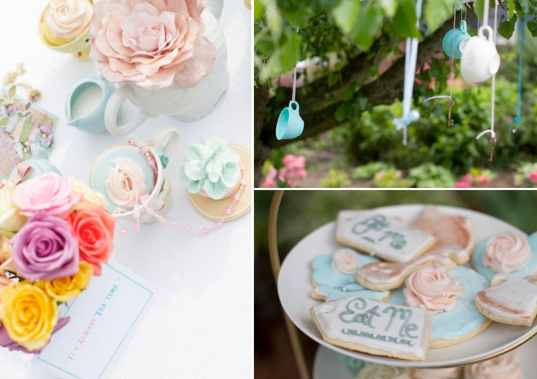 Vintage Alice In Wonderland Tea Party with