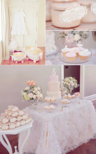 Vintage Pink Christening Party with lots of baby shower ideas or birthday party ideas via Kara's Party Ideas KarasPartyIdeas.com #vintage #pink #cake #ruffle #party #christening #baby #shower #ideas