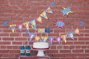 Vintage Superhero Birthday Party via Kara's Party Ideas | Kara'sPartyIdeas.com #vintage #superhero #birthday #party (15)