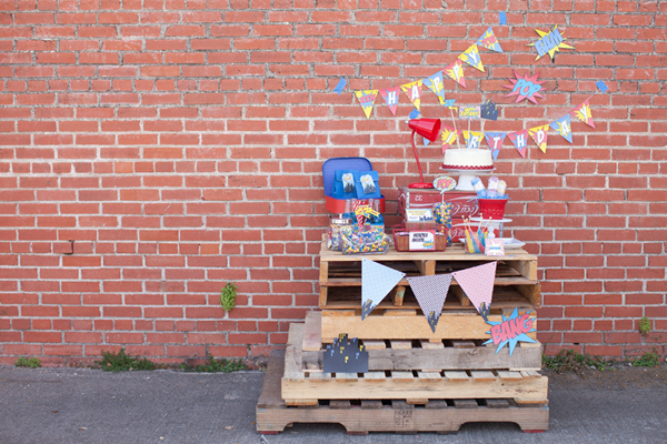 Vintage Superhero Birthday Party via Kara's Party Ideas | Kara'sPartyIdeas.com #vintage #superhero #birthday #party (14)