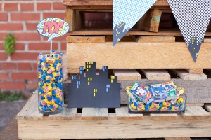 Vintage Superhero Birthday Party via Kara's Party Ideas | Kara'sPartyIdeas.com #vintage #superhero #birthday #party (13)