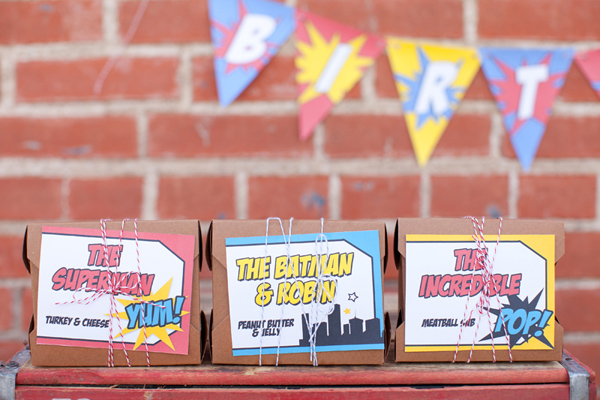 Vintage Superhero Birthday Party via Kara's Party Ideas | Kara'sPartyIdeas.com #vintage #superhero #birthday #party (11)