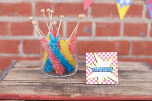 Vintage Superhero Birthday Party via Kara's Party Ideas | Kara'sPartyIdeas.com #vintage #superhero #birthday #party (10)